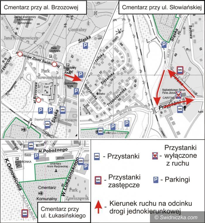 Świdnica: 1 listopada w Świdnicy – będą zmiany w organizacji ruchu
