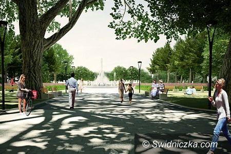 Świdnica: Park im. Kasprowicza prawie gotowy, Centralny w trakcie przebudowy