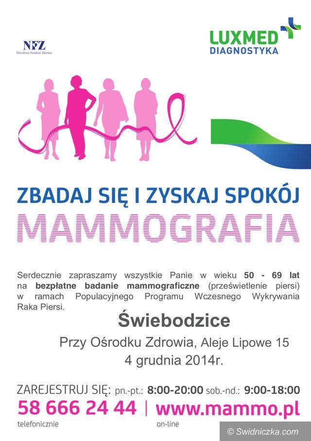 Świebodzice: Zaproszenie na badanie mammograficzne