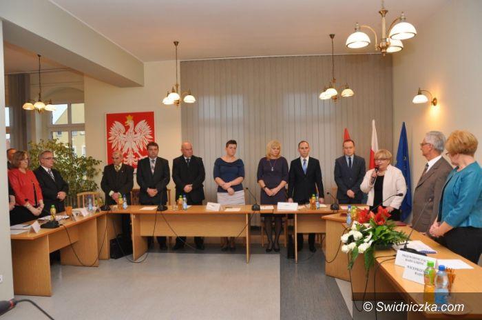 Gmina Świdnica: Pierwsza sesja rady gminy Świdnica