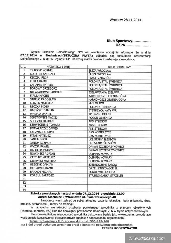 Dolny Śląsk: Powołani na kadrę UEFA Regions Cup