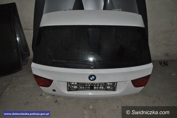 powiat świdnicki: Zlikwidowana dziupla samochodowa – policjanci odzyskali skradzione audi oraz części o wartości ponad pół miliona złotych