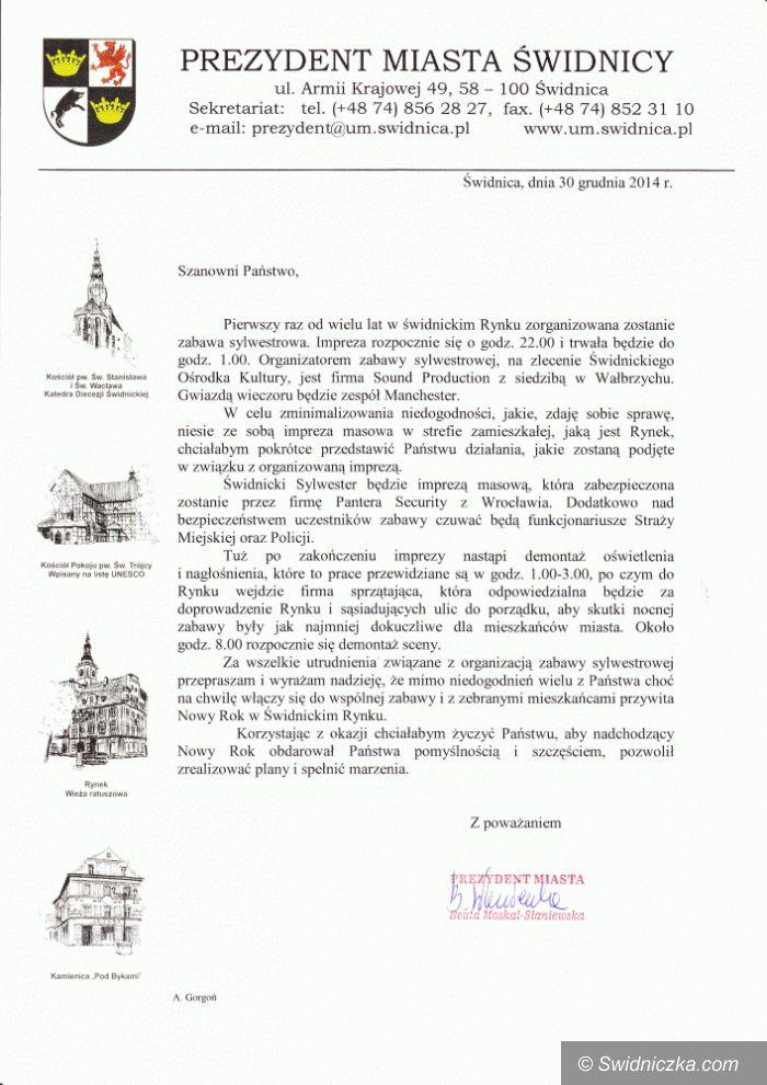 Świdnica: Sylwester w świdnickim Rynku