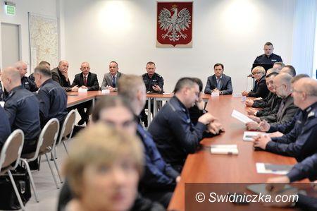 Świdnica: Odprawa roczna w Komendzie Powiatowej Policji w Świdnicy