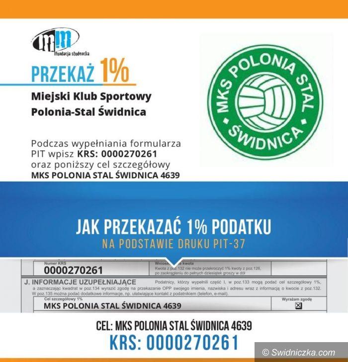 Świdnica: 1 procent podatku dla Miejskiego Klubu Sportowego Polonia–Stal Świdnica