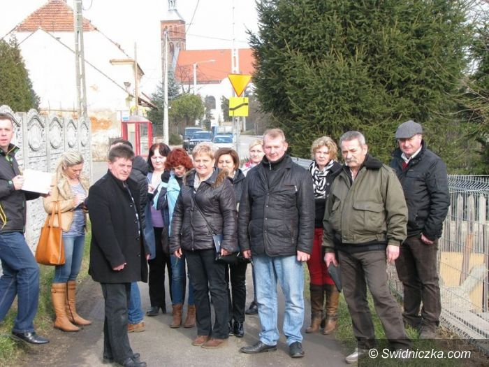 Gmina Marcinowice: Wizyta Komisji Rolnictwa w gminnych sołectwach