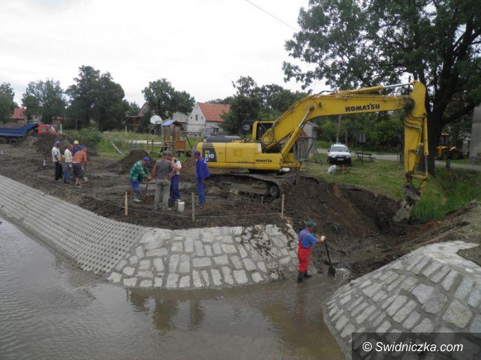 Żarów: Kontynuacja prac na potoku Tarnawka