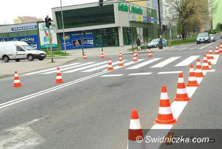 Świdnica: Malowanie znaków poziomych na miejskich ulicach