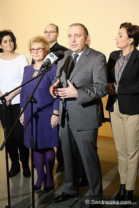 Wałbrzych: Grzegorz Schetyna z wizytą w Wałbrzychu