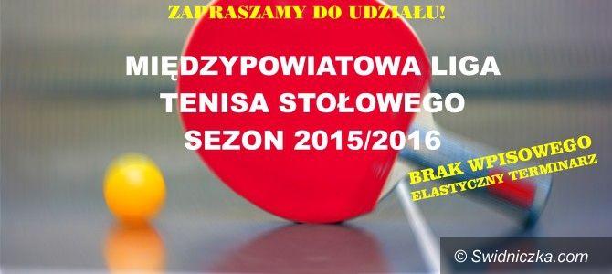 powiat świdnicki: Rusza Liga tenisa stołowego