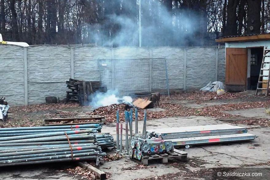 Świdnica: Mandat za spalanie śmieci