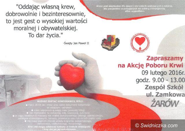 Żarów: Walentynkowa zbiórka krwi