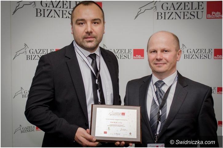 """Jaworzyna Śląska: Statuetka """"Gazela Biznesu 2015"""" dla jaworzyńskiej firmy"""