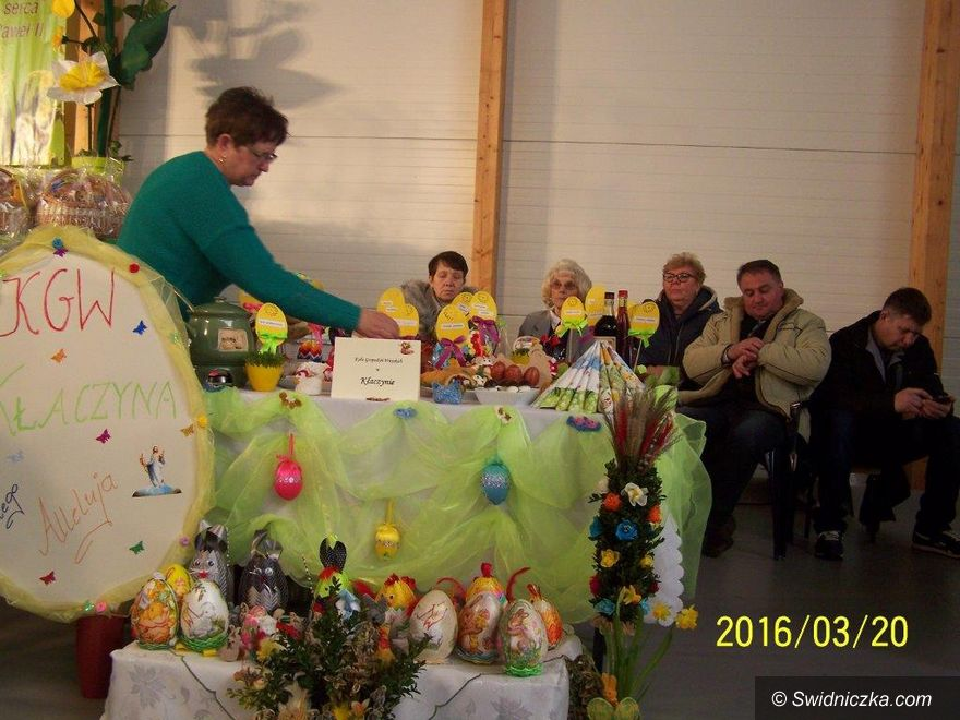 Dobromierz/Marcinowice: KGW Kłaczyna na Jarmarku Wielkanocnym