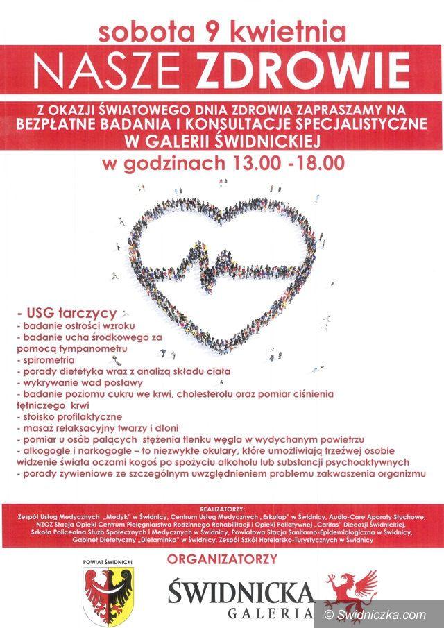 """Świdnica: """"Nasze zdrowie"""". Bezpłatne konsultacje i badania z okazji Światowego Dnia Zdrowia"""