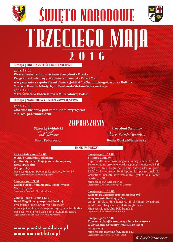 Świdnica: Święto Narodowe Trzeciego Maja i inne imprezy
