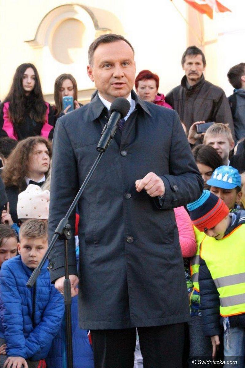 Świebodzice: Prezydent Andrzej Duda w Świebodzicach