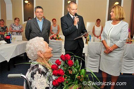 Świdnica: 100 urodziny świdniczanki Janiny Goduli