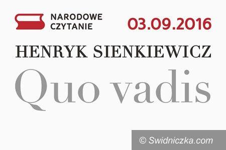 Świdnica: Narodowe Czytanie po raz kolejny w Świdnicy
