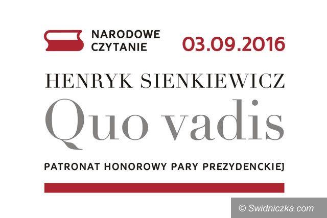 Świebodzice: W sobotę czytamy Sienkiewicza