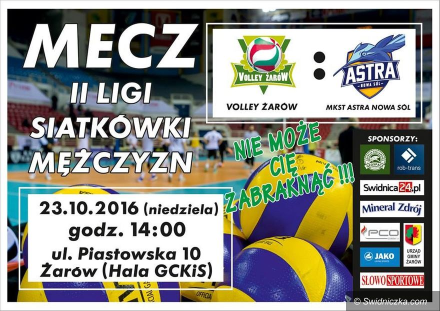 Żarów: Dziś kibicujemy siatkarzom z Volley Żarów