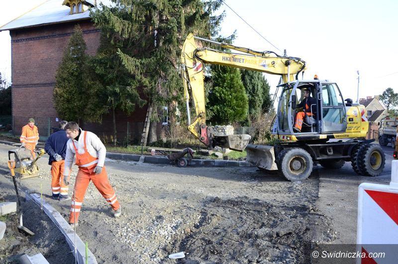 Imbramowice: Ulica Lipowa w Imbramowicach w trakcie remontu