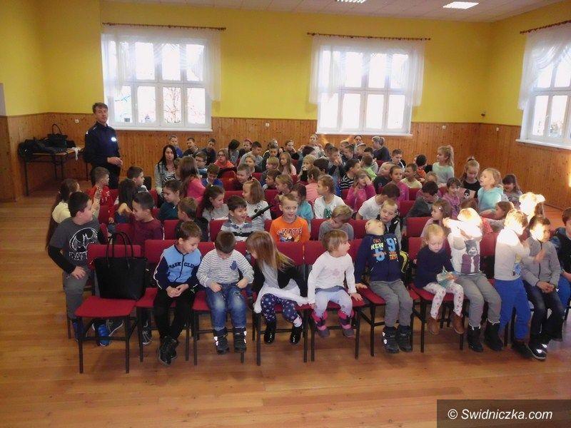 powiat świdnicki: Policjanci odwiedzili już uczniów 9 szkół podstawowych z terenu powiatu świdnickiego