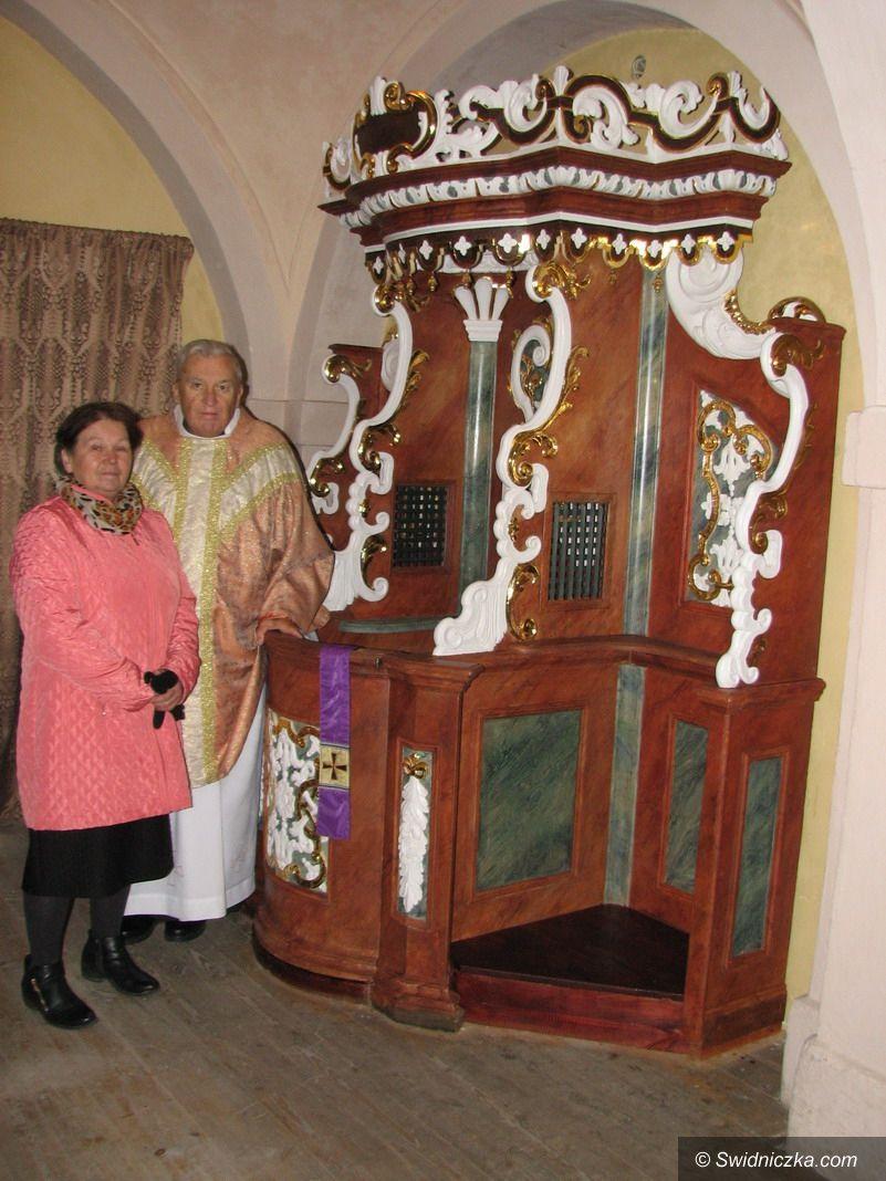 Olszany: Konfesjonał odrestaurowany