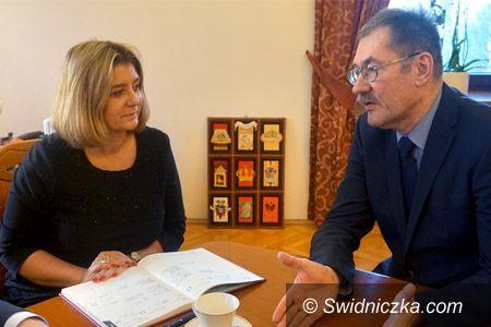 Świdnica: Prezydent Świdnicy rozmawiała z Dolnośląskim Kuratorem Oświaty