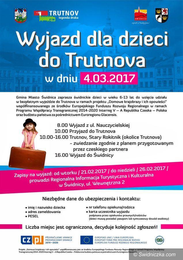 Świdnica: Zapraszamy dzieci na wycieczkę do Trutnova