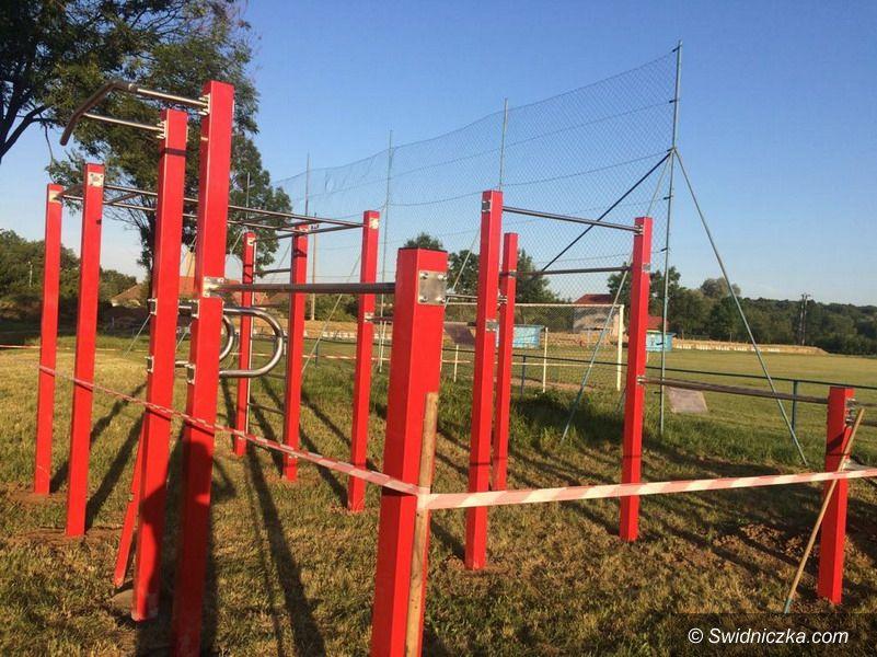 Wierzbna: Nowy plac do ćwiczeń w Wierzbnej