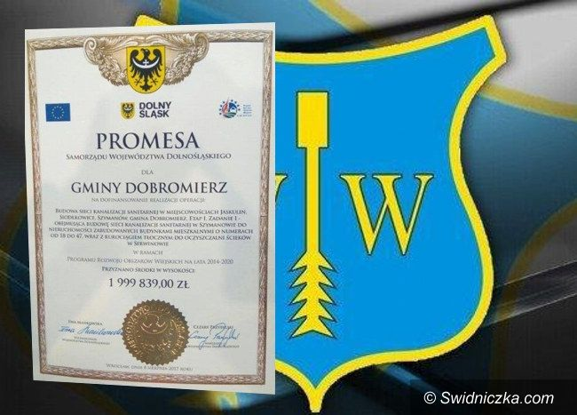Gmina Dobromierz: Kolejne pieniądze na kanalizację