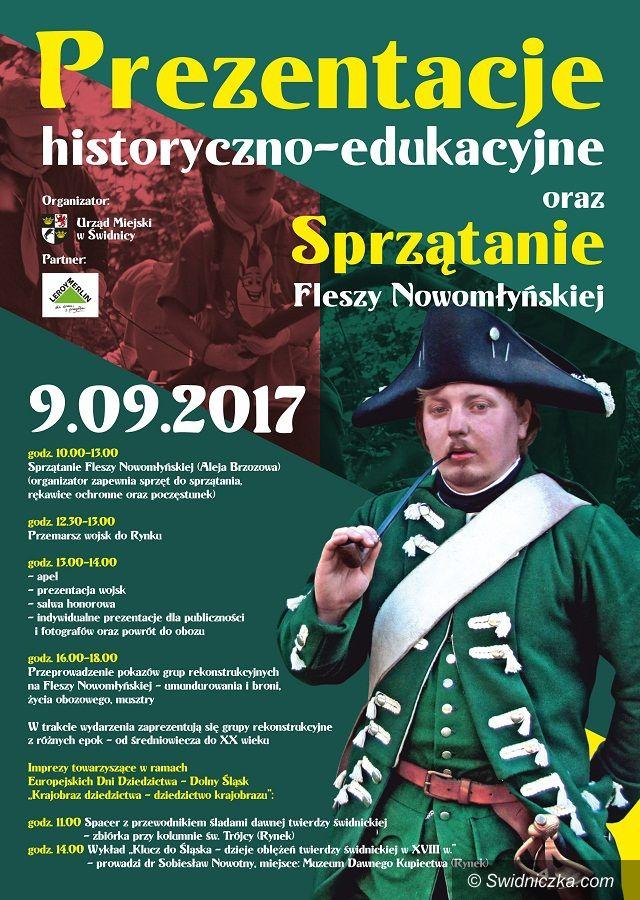Świdnica: Prezentacje historyczno – edukacyjne i sprzątanie Fleszy Nowomłyńskiej