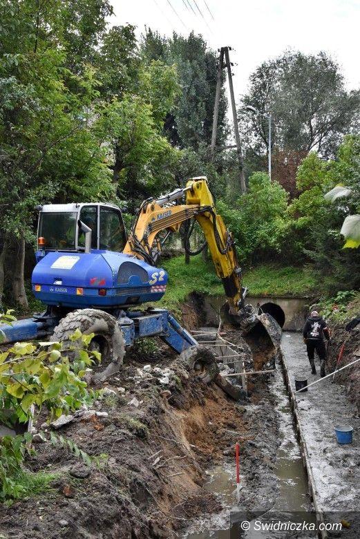 Mokrzeszów: Regulacja rowu Kotarba w Mokrzeszowie