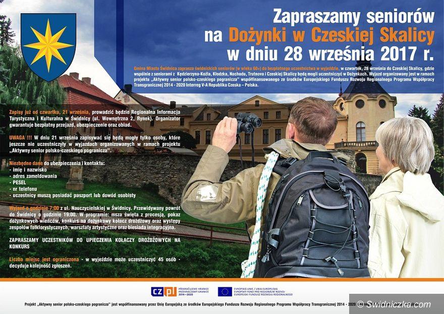 Świdnica: Zapraszamy seniorów na dożynki w Czeskiej Skalicy