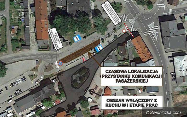Żarów: Zmiana organizacji ruchu ul. Dworcowa w Żarowie