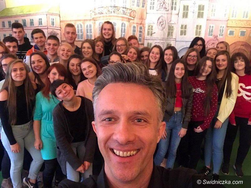 Strzegom: Zajęcia dziennikarsko – medialne z Łukaszem Płoszajskim