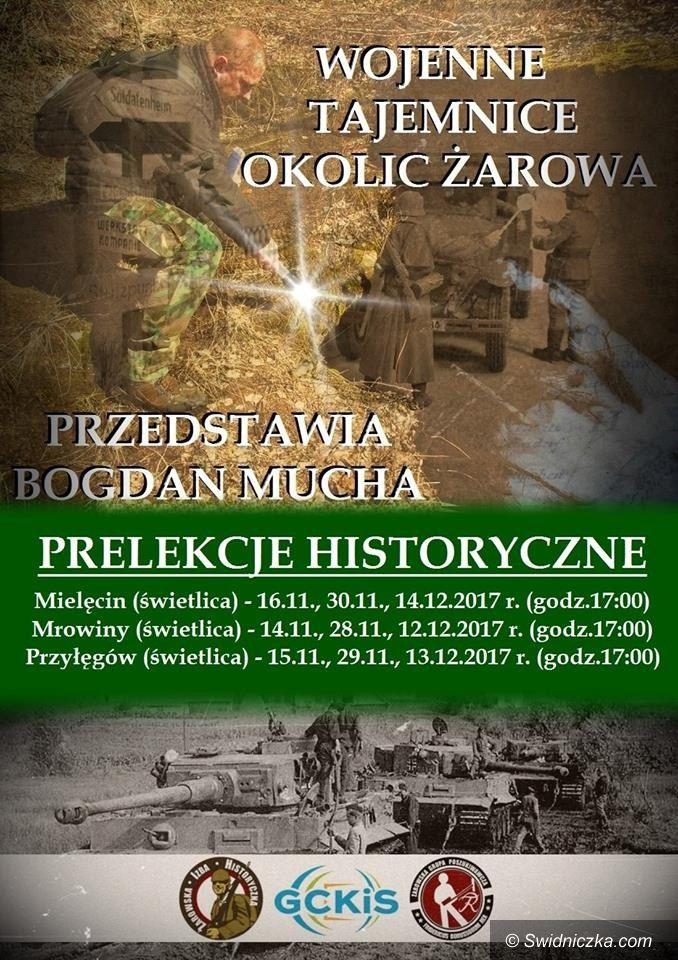 """Gmina Żarów: Prelekcje historyczne """"Wojenne Tajemnice Okolic Żarowa"""""""