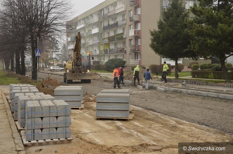 Żarów: Trwa remont ulicy Łokietka w Żarowie