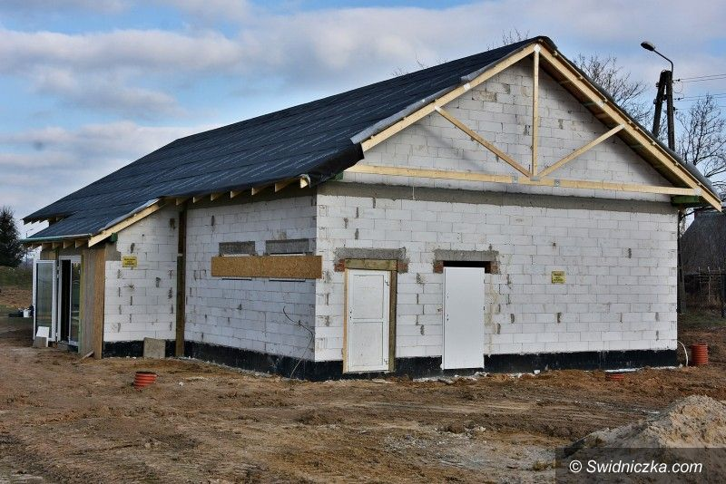 Pszenno: Trwa budowa nowej szatni w Pszennie