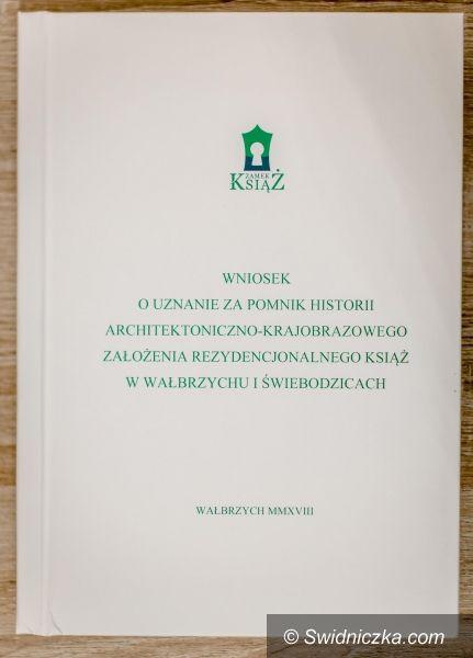REGION: Zamek Książ stara się o status Pomnika Historii
