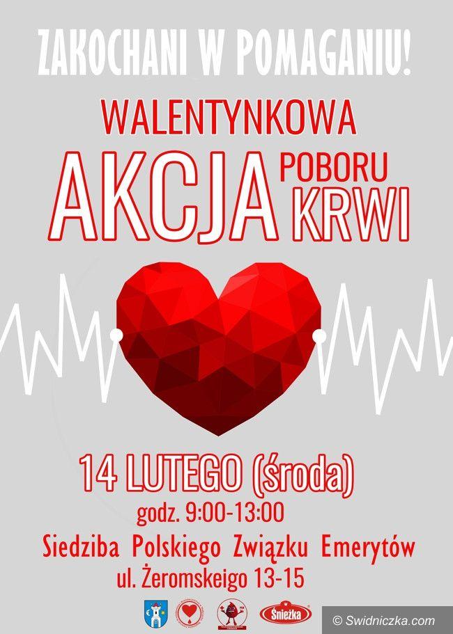 Świebodzice: Walentynkowa zbiórka krwi
