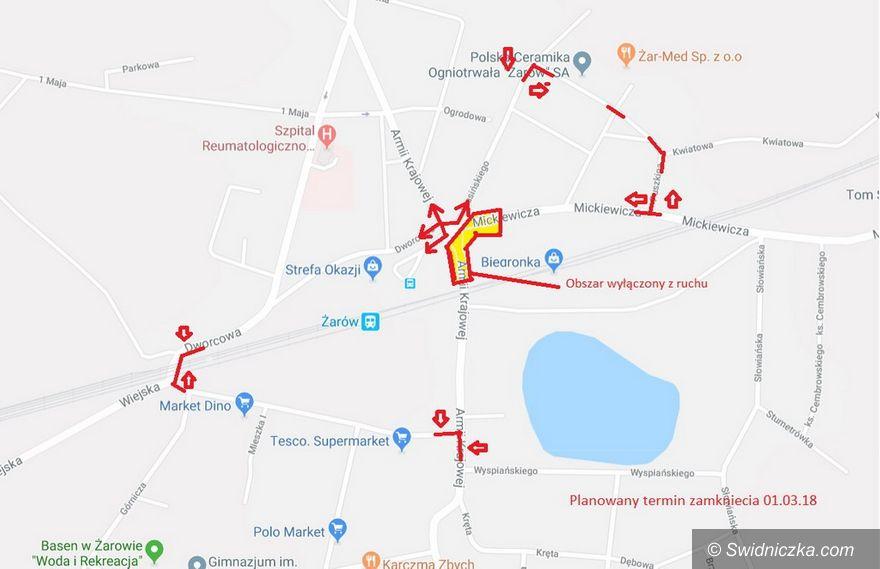 Żarów: Skrzyżowanie w centrum Żarowa zostanie zamknięte