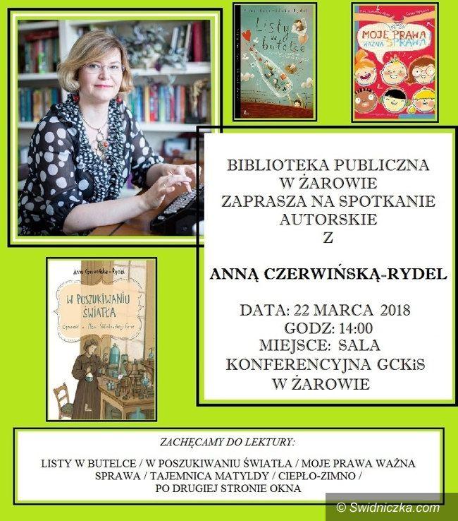 Żarów: Spotkanie autorskie z Anną Czerwińską–Rydel