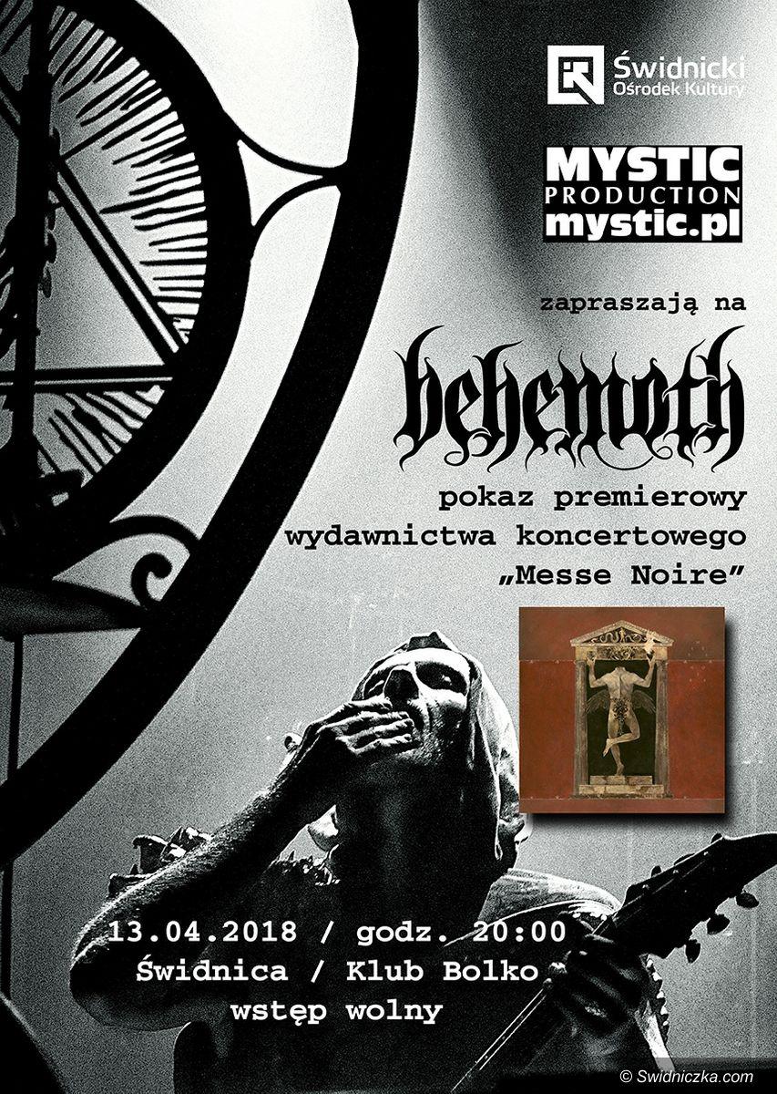Świdnica: Dziś premiera dvd Behemoth w Klubie Bolko!