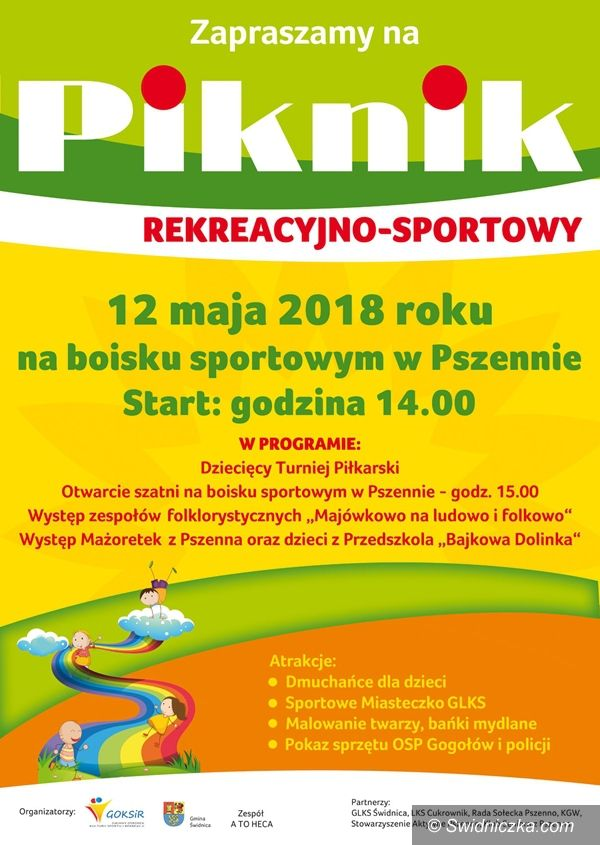 Pszenno: Piknik rekreacyjny odbędzie się w Pszennie