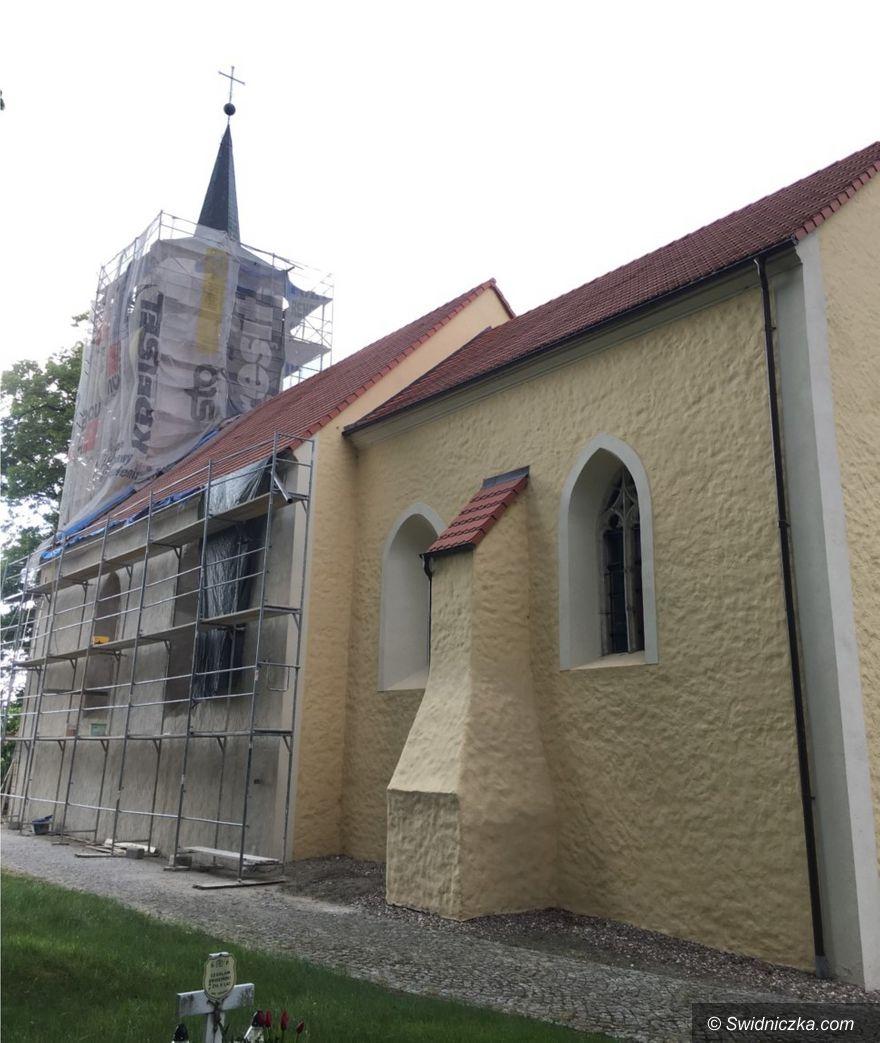Szczepanów: Kościół w Szczepanowie nabiera blasku