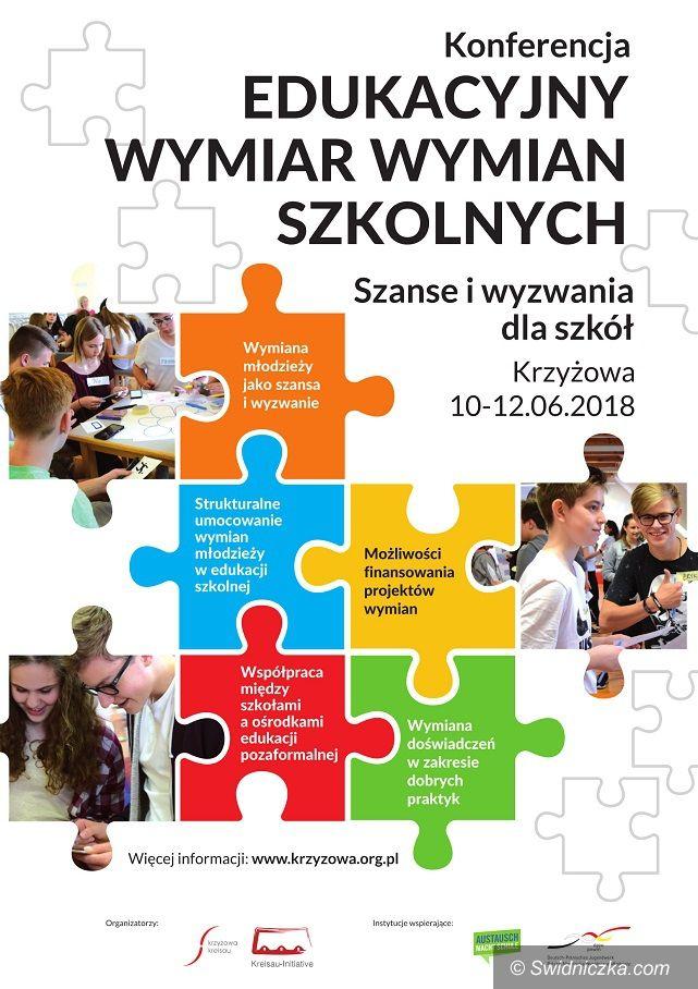 """Krzyżowa: Konferencja """"Edukacyjny wymiar wymian szkolnych – szanse i wyzwania dla szkół"""""""