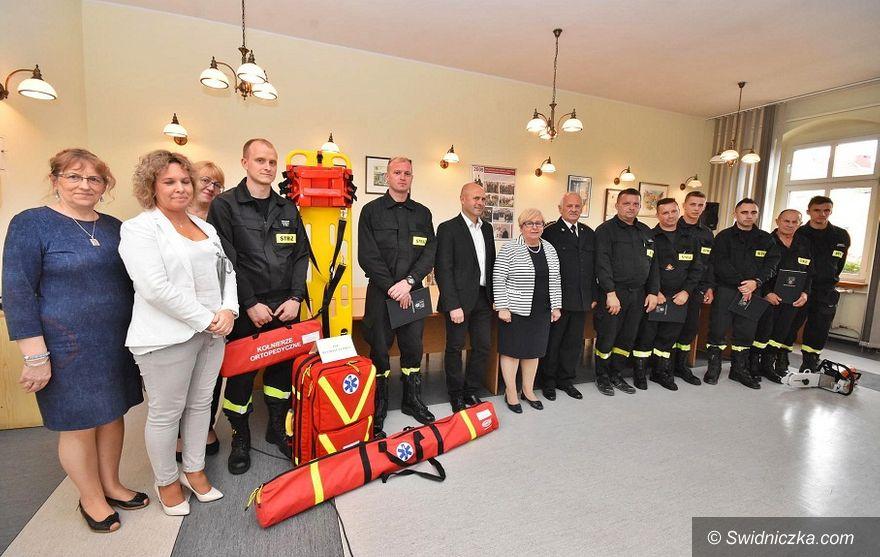 Gmina Świdnica: Strażacy ochotnicy otrzymali nowy sprzęt