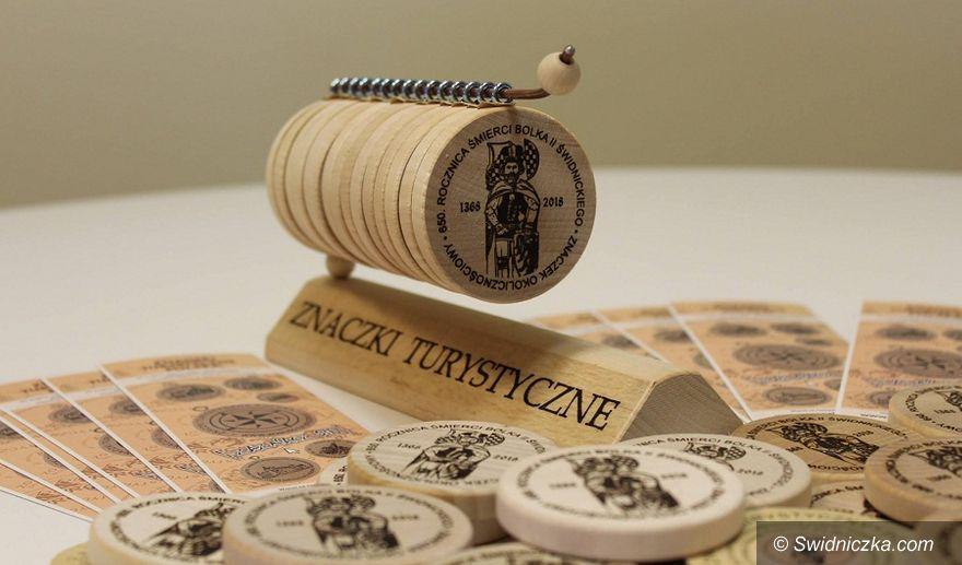 Świdnica: Znaczek turystyczny z Bolkiem II Świdnickim